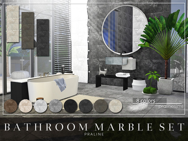 Bathroom Marble Set by Pralinesims