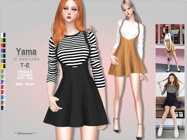 YAMA - Overalls with top by Helsoseira