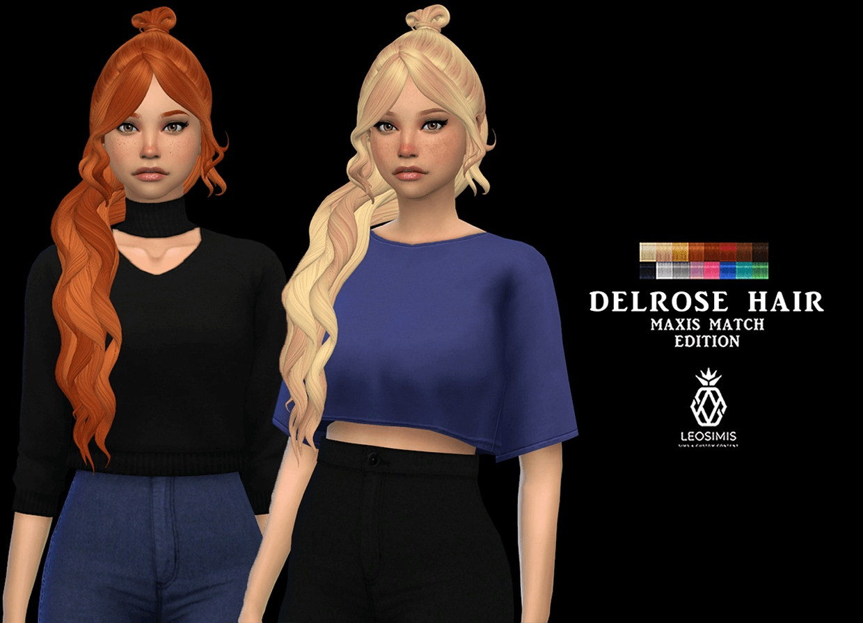 Delrose hair mm by Leo-Sims