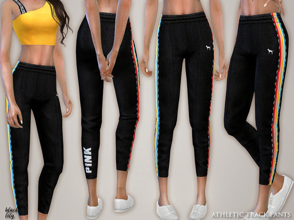 Athletic Track Pants by Black Lily