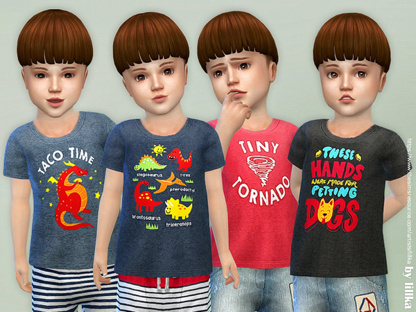 T-Shirt Toddler Boys P02 by lillka