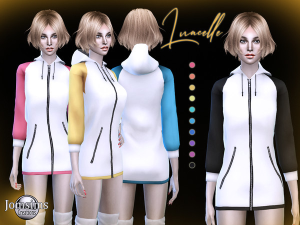 luacelle hooded dress by jomsims
