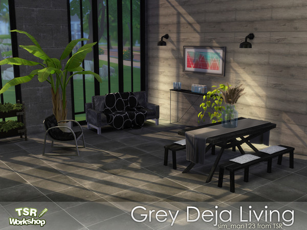 Deja Grey Living Room by sim_man123