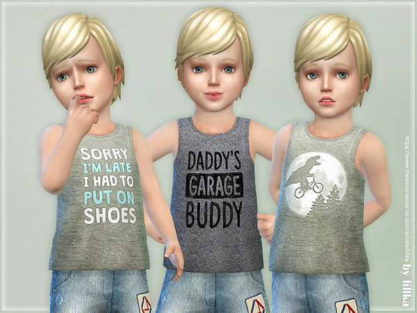 Toddler Boy Tank Top 01 by lillka