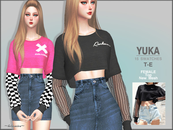 YUKA - 2 layers Top by Helsoseira