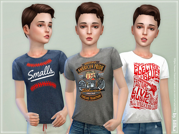 T-Shirt Collection for Boys P14 by lillka