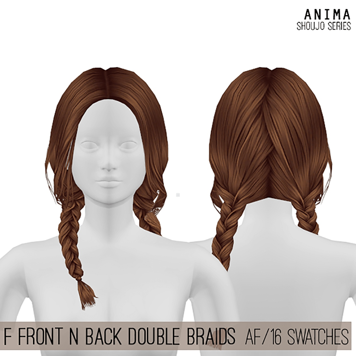 Front And Back Double Braids by Cosplay Simmer
