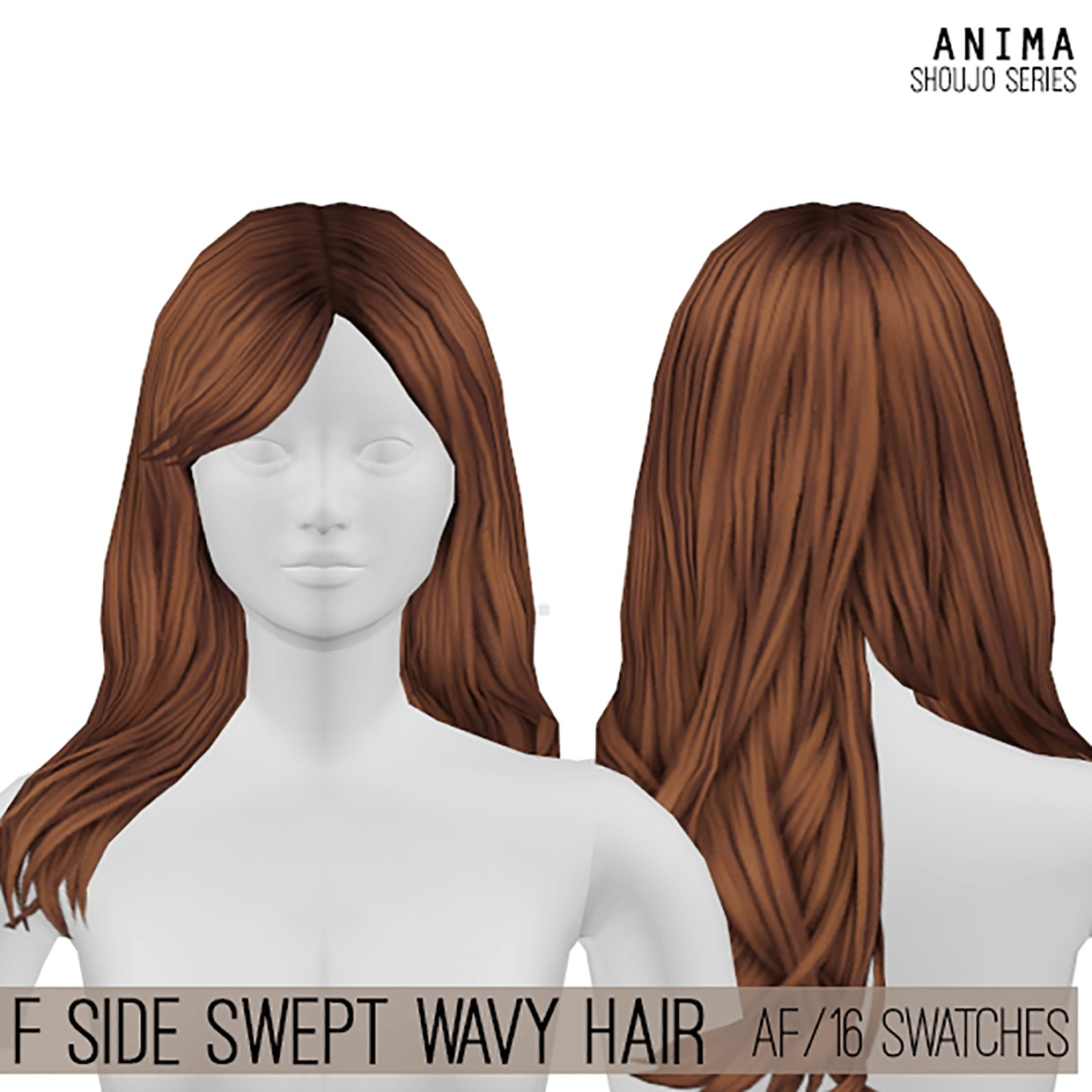 Side Swept Wavy Hair by Cosplay Simmer