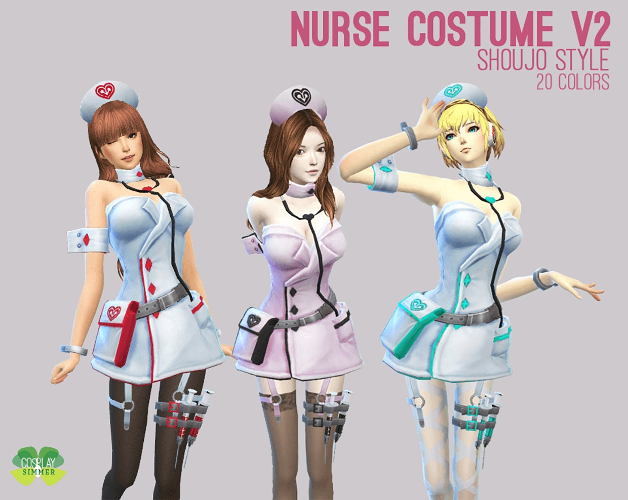 Nurse Costume V2 by Cosplay Simmer
