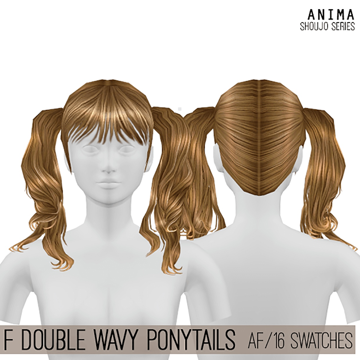 Double Wavy Ponytails by Cosplay Simmer