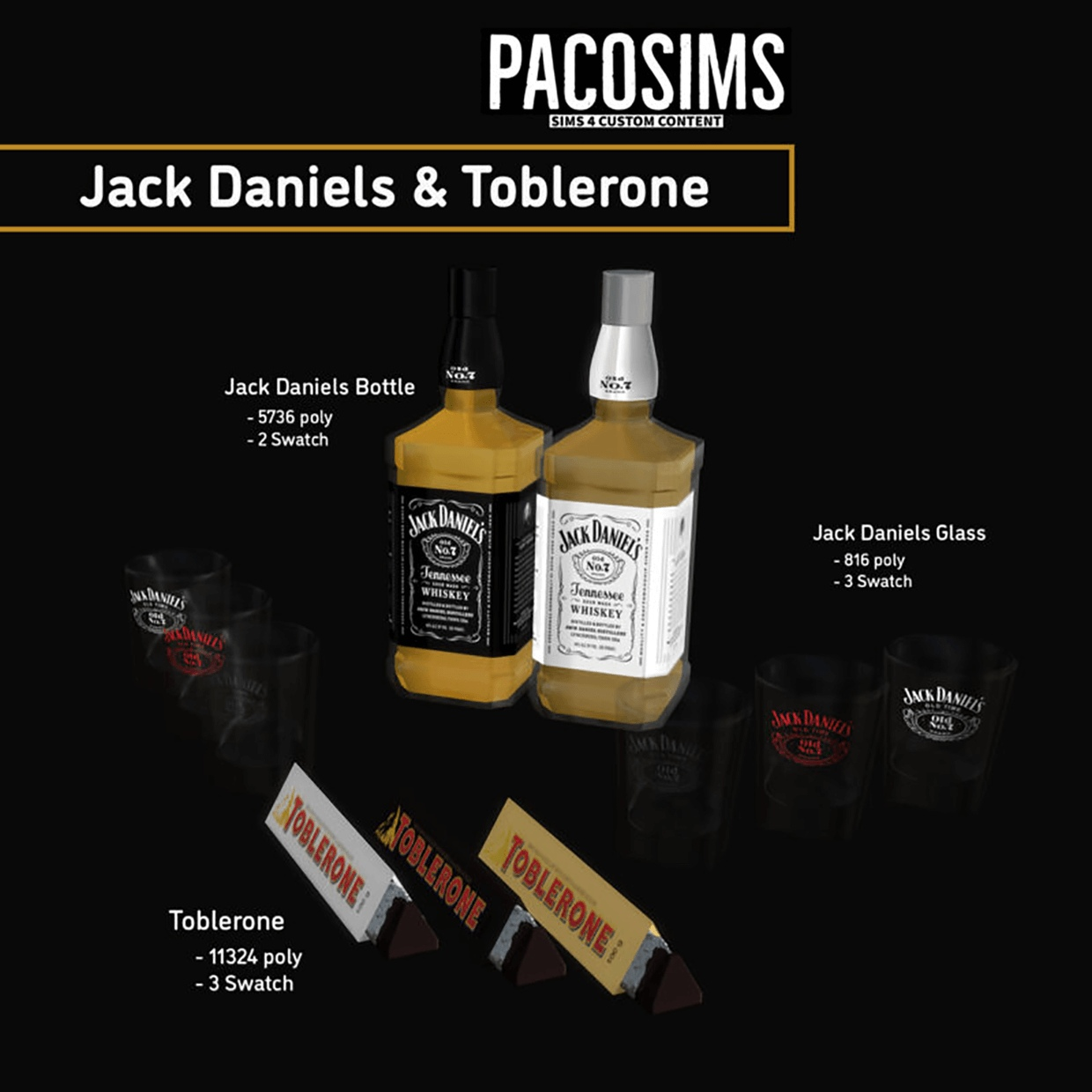 Toblerone and jack daniels by PacoSims