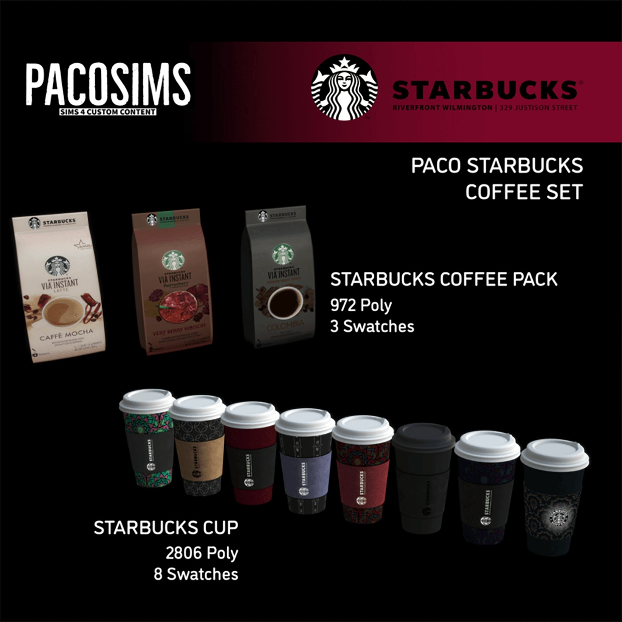 Starbucks coffee set by PacoSims
