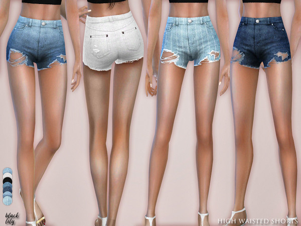 High Waisted Shorts by Black Lily