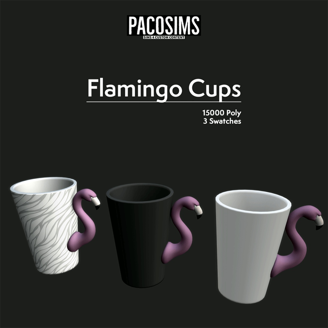 Flamingo cup by PacoSims