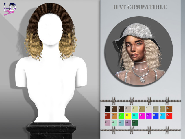 EDITH HAIR by i-D Sims