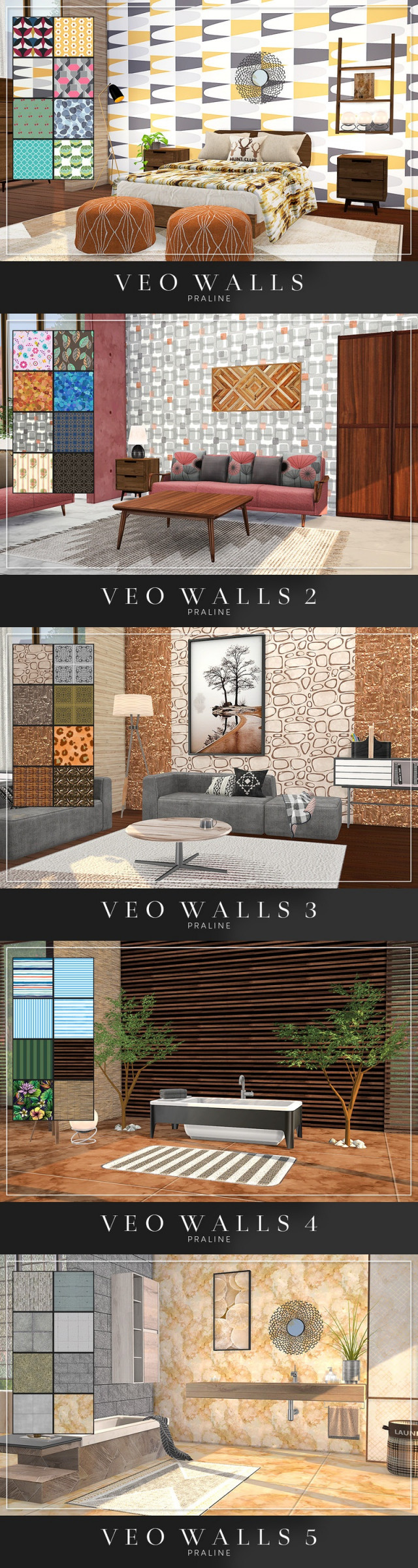 VEO Walls by Pralinesims