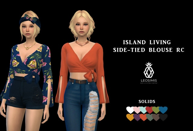 Side-tied Blouse by Leo-Sims