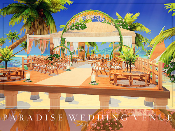 Paradise Wedding Venue by Pralinesims