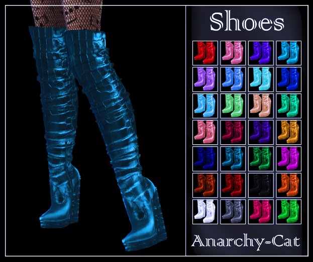 MeshByMila_Platform Heel Long Boots by Anarchy-Cat
