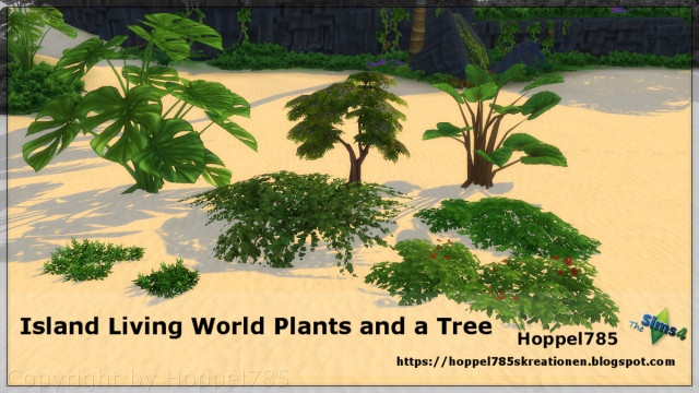Island Living World Plants and a Tree by Hoppel785