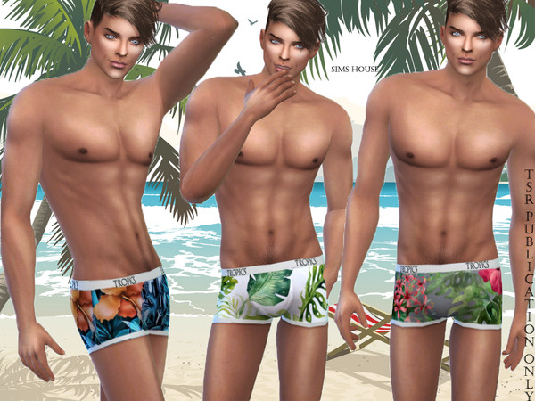 Tropics men's underwear by Sims House