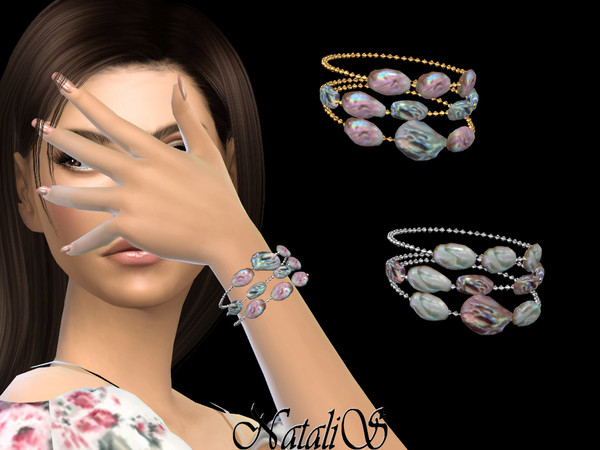 NataliS_Mother of pearl beads braсelet