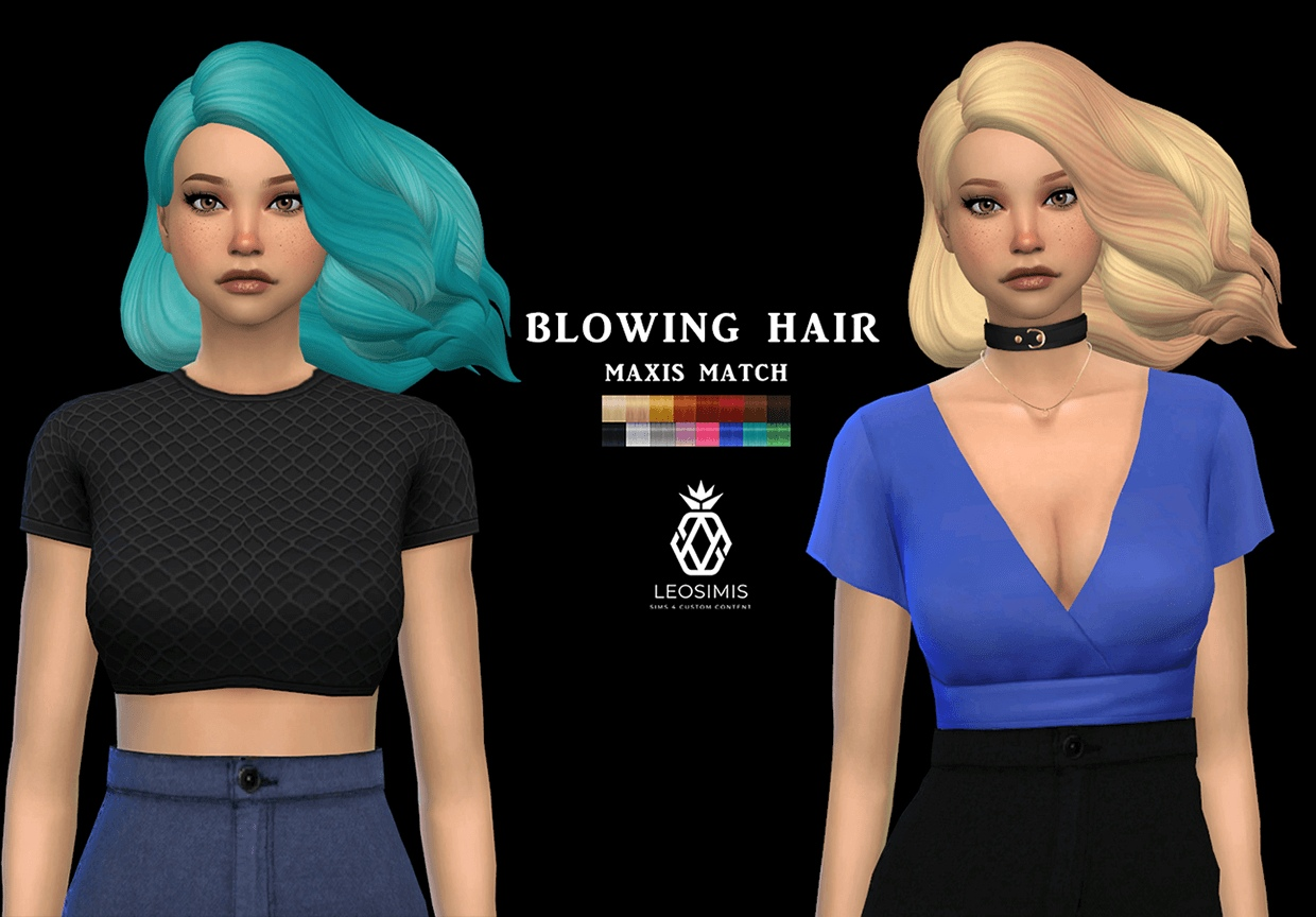 Blowing hair mm by Leo-Sims