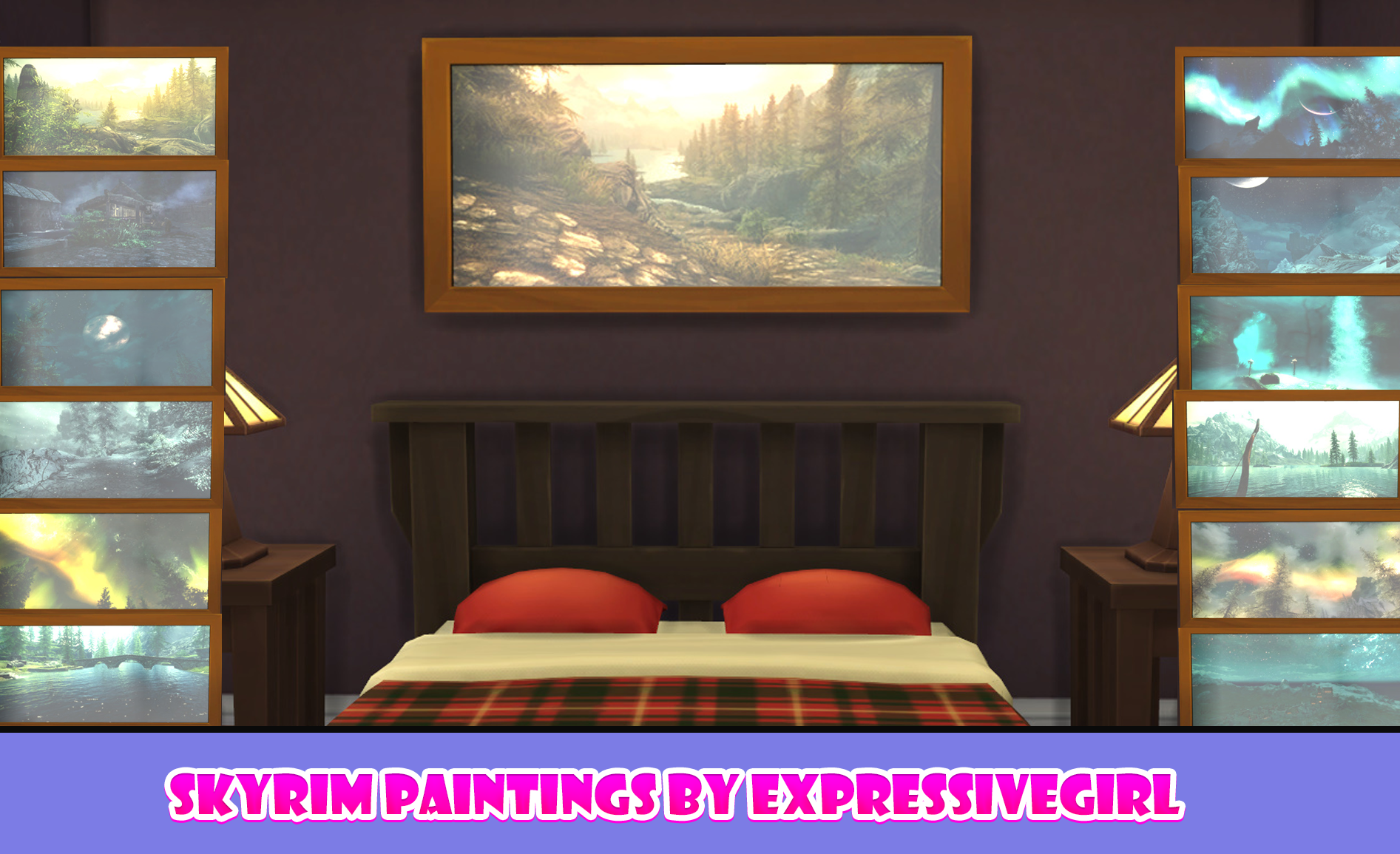 Skyrim Paintings by Expressive Girl