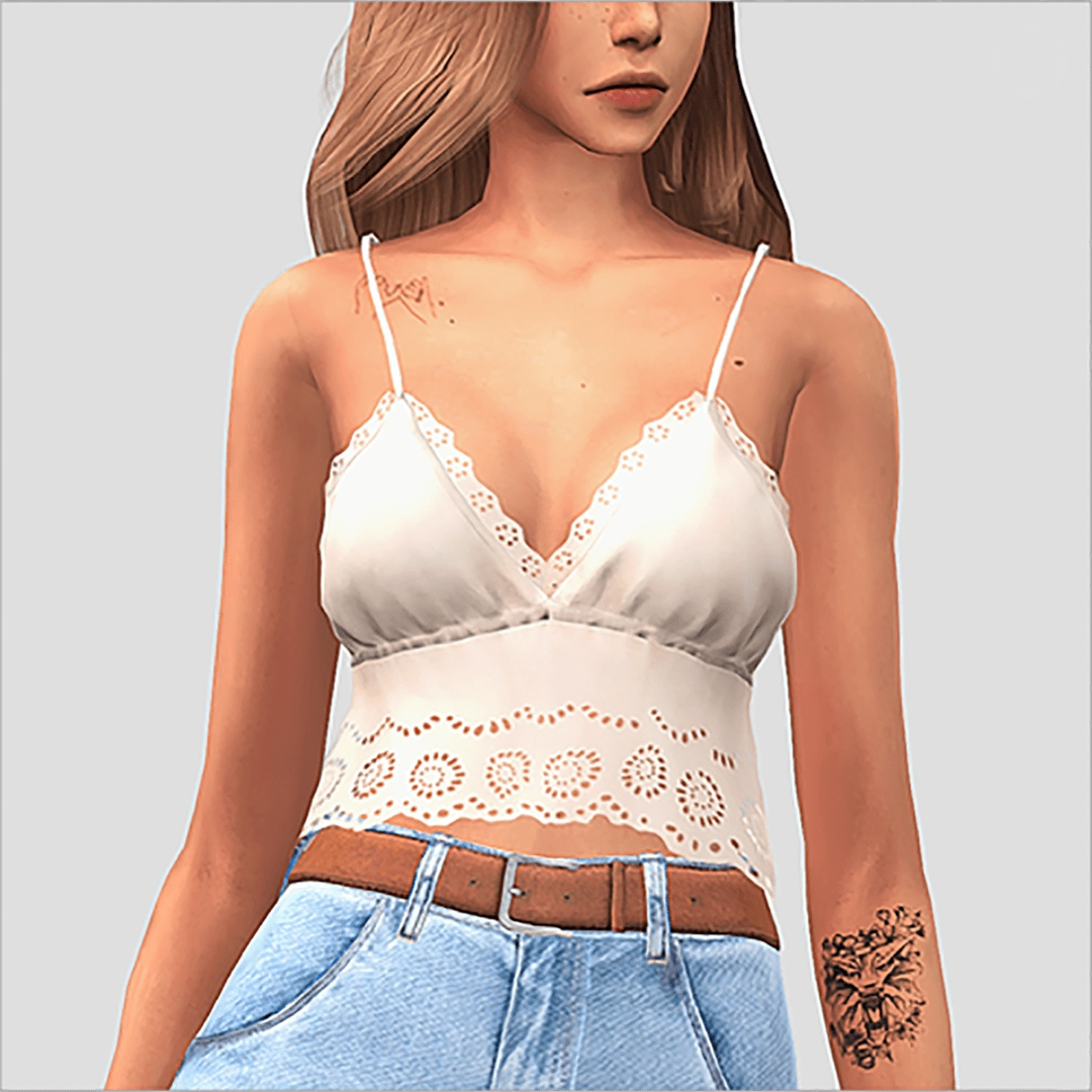 Summer Lace Top by Elliesimple