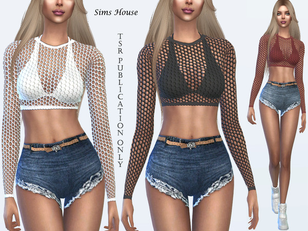 Tropics Mesh top for the beach by Sims House
