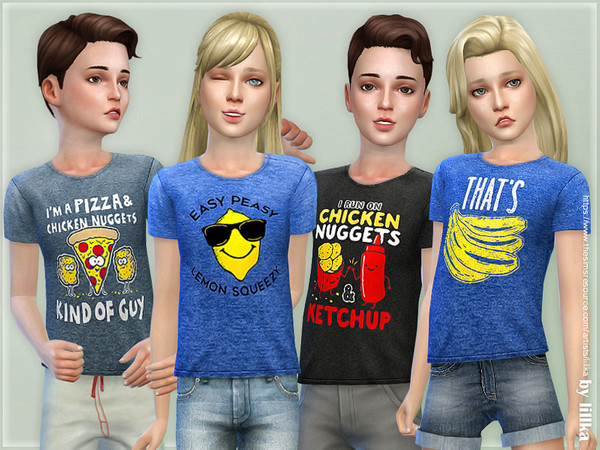 T-Shirt Collection for Children 01 by lillka
