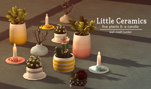 Little Ceramics - five plants & a candle! by leaf-motif