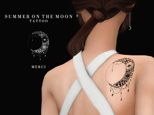 Summer On The Moon-Tattoo-by -Merci-