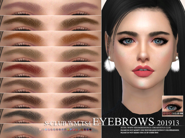 S-Club WM ts4 Eyebrows 201913
