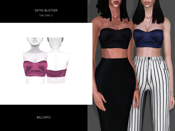 Satin Bustier by Bill Sims