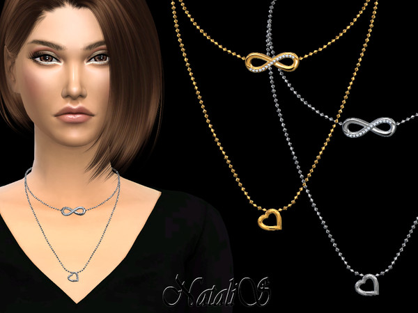 NataliS_Infinity double chain necklace
