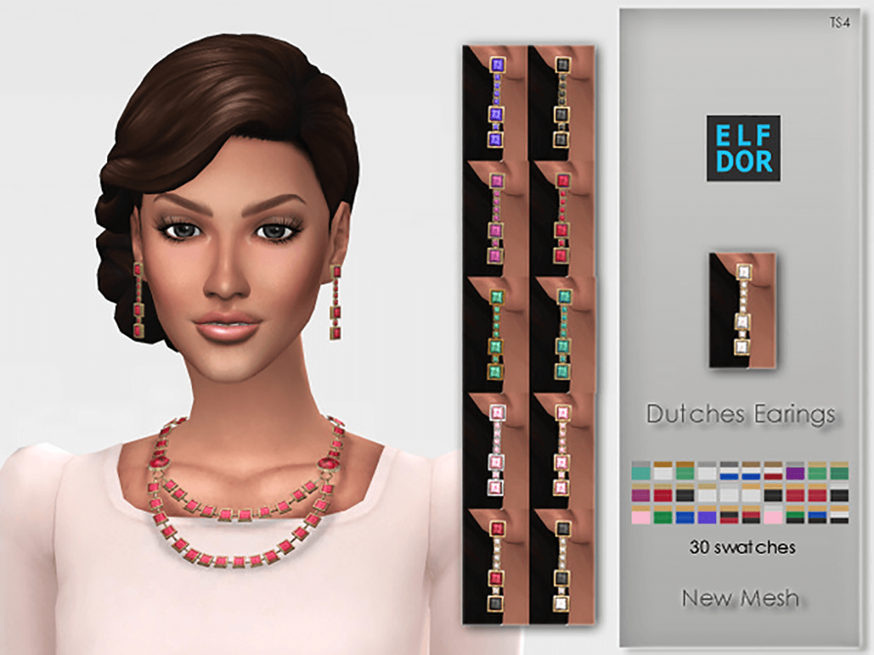 Dutches Earrings by Elfdor
