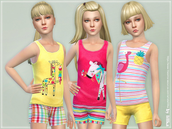 Summer Print Top & Shorts 08 by lillka