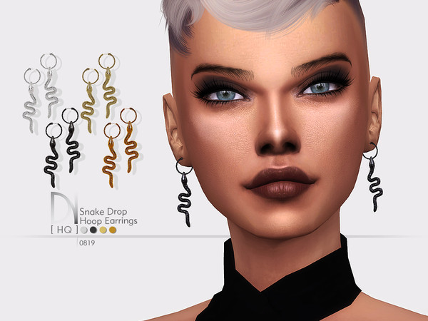 Snake Drop Hoop Earrings by DarkNighTt
