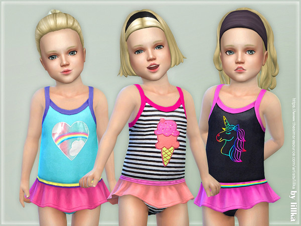 Toddler Swimsuit P08 by lillka