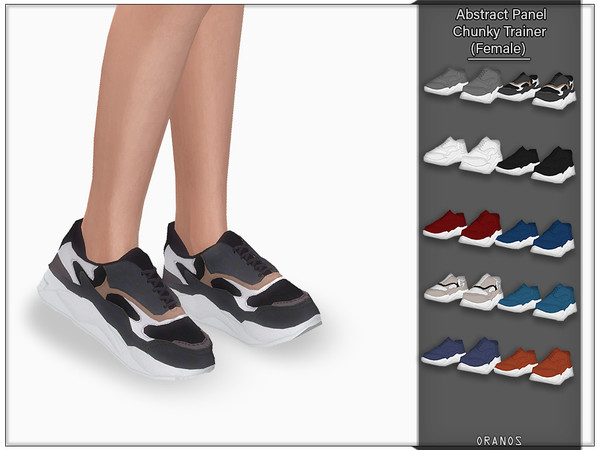Abstract Panel Chunky Trainer (Female) by OranosTR