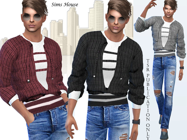 Men's sweater with a t-shirt by Sims House