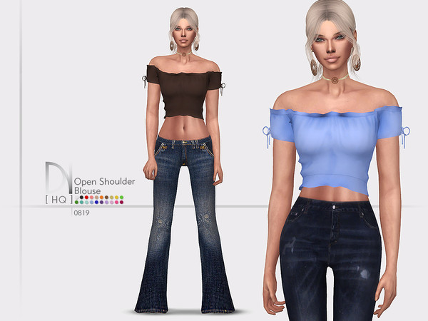 Open Shoulder Blouse by DarkNighTt