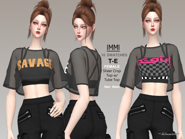 IMMI - Sheer Crop Top by Helsoseira