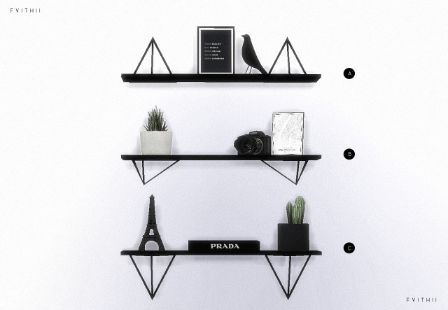 Wire Triangle Shelves by fvithii