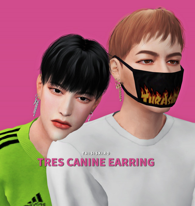 Tres CANINE earring by thisiskiro