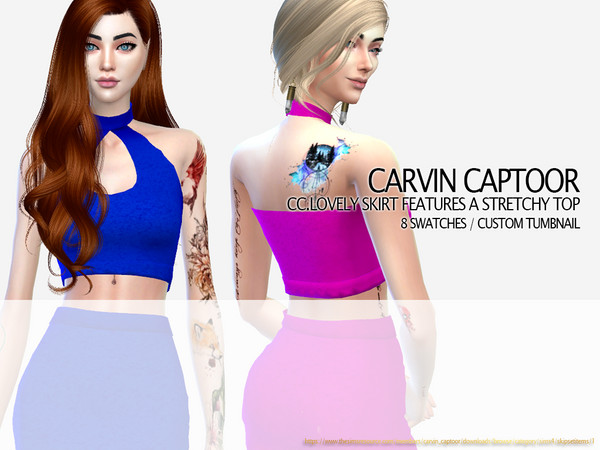 CC.lovely skirt features a stretchy top by carvin captoor