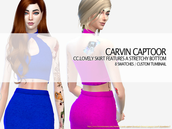 CC.lovely skirt features a stretchy bottom by carvin captoor