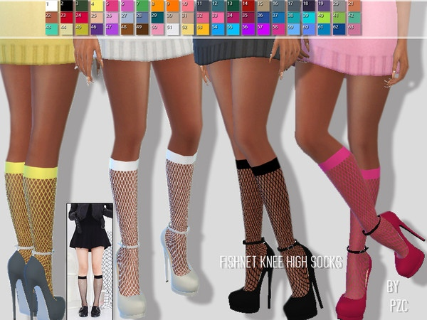 Summer Fishnet Knee High Socks by Pinkzombiecupcakes