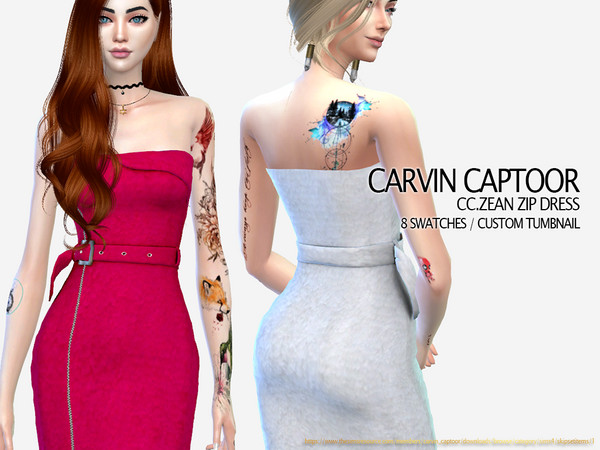 CC.Zean Zip Dress by carvin captoor